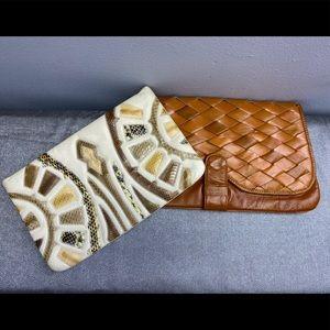VINTAGE USED, Bundle Leather Clutch handbags